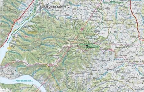 Mapa Montmeneu