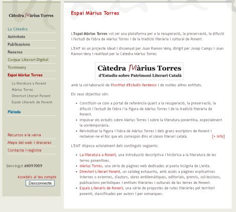 Pàgina inicial del lloc web